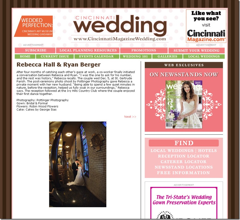 CincinnatiWeddingMagazine2010OnlineRebeccaRyan