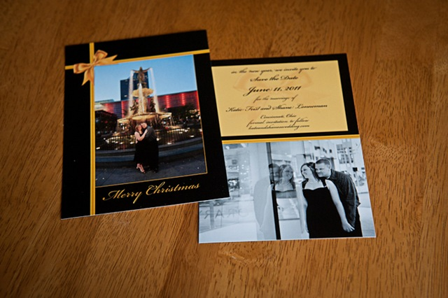 Save The Date Christmas Cards.A Christmas Card And Save The Date From Kate And Shane