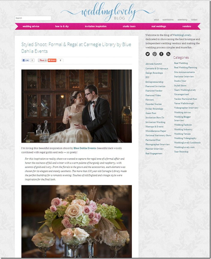 WeddingLovelyBlogCarnegieEventCenternewport